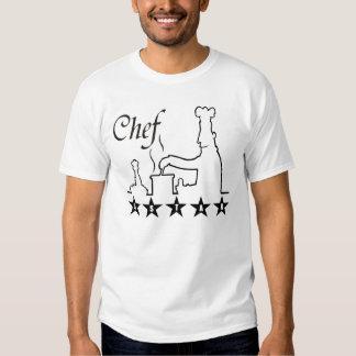 grande idée de cadeau de chef de cuisinier cinq t-shirts