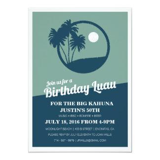 Grande invitation d'anniversaire de BBQ de Kahuna