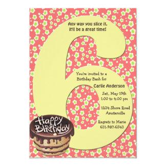Grande invitation de fête d'anniversaire 6