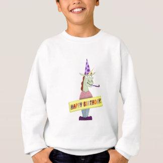 Grande licorne de joyeux anniversaire sweatshirt