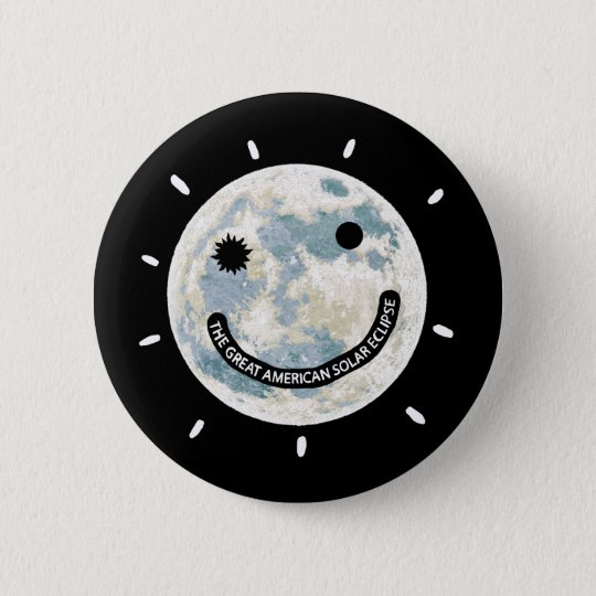Grande lune américaine Emoji d'éclipse solaire Pin's