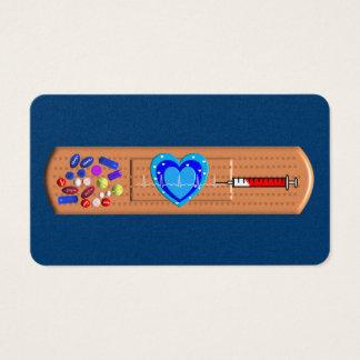 Grande marine Bandaid de cartes de visite médicaux