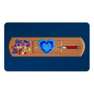 Grande marine Bandaid de cartes de visite médicaux Carte De Visite Standard