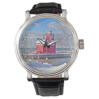 Grande montre rouge de J Spoelstra
