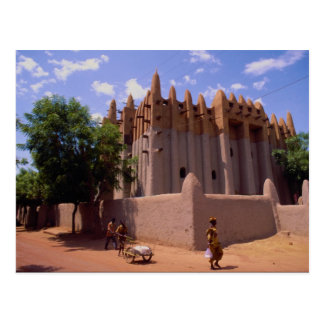 Grande mosquée, type architecture, Mopti de Cartes Postales