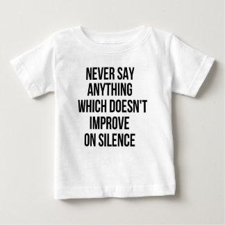 Grande phrase simple fraîche de tao de philosophie t-shirt pour bébé
