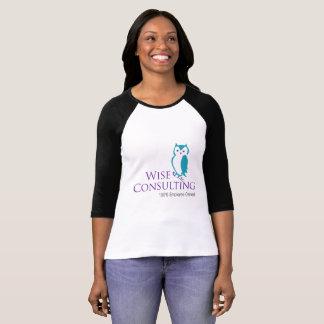 Grande pièce en t de raglan du logo des femmes t-shirt
