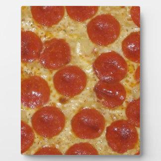 grande pizza de pepperoni impressions sur plaque