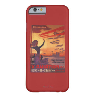 Grande semaine d'aviation - affiche de ondulation coque barely there iPhone 6