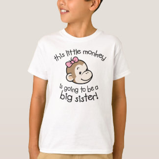 Grande soeur à être singe t-shirt