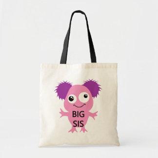 Grande soeur de monstre rose sacs de toile