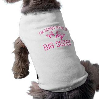 Grande soeur de papillon rose à être t-shirt pour chien