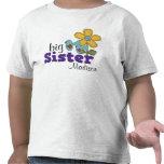 Grande soeur d'oiseaux de fleur mignonne de margue t-shirt