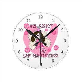 Grande soeur toujours la princesse horloge ronde