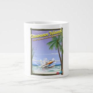 Grande Tasse Affiche de paradis des Caraïbe, îles de Canouan
