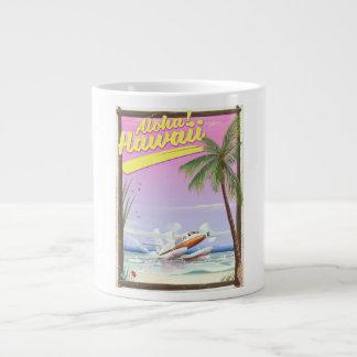 Grande Tasse Aloha ! Affiche vintage de voyage de style d'Hawaï