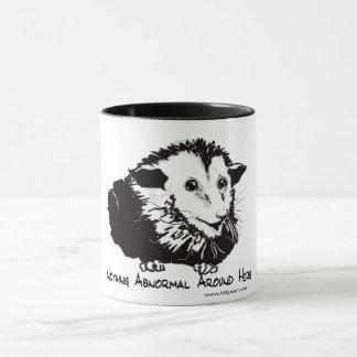 Grande tasse avec l'image d'opossum et le
