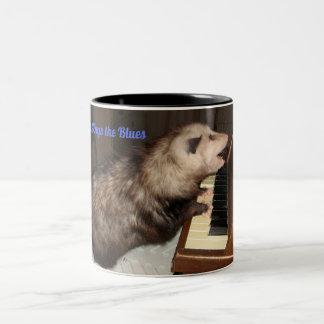 Grande tasse avec l'opossum de chant