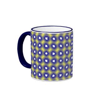 Grande tasse carrelée bleue de sonnerie
