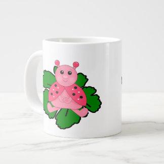 Grande Tasse Coccinelle rose