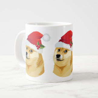 Grande Tasse Doge de Noël - doge de père Noël - chien de Noël