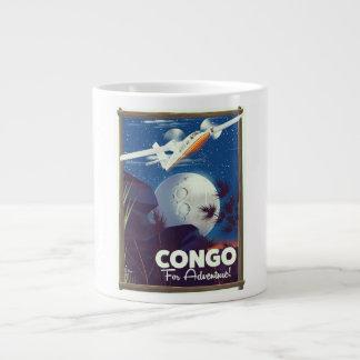 Grande Tasse Le Congo pour l'aventure ! affiche de voyage