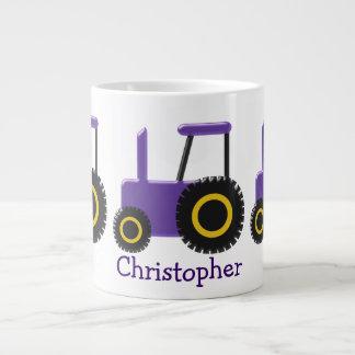 Grande Tasse Le tracteur pourpre ajoutent juste le nom