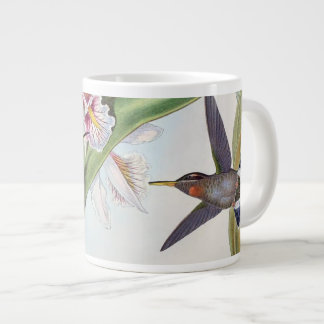 Grande Tasse L'orchidée d'animaux d'oiseaux de colibri fleurit