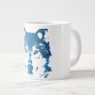 Grande Tasse Loup de bleu glacier d'illustration