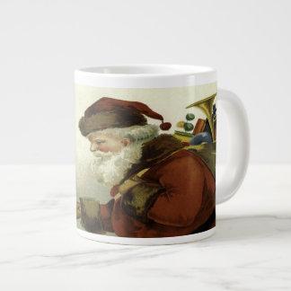 Grande Tasse Meilleurs voeux Noël vintage de Père Noël