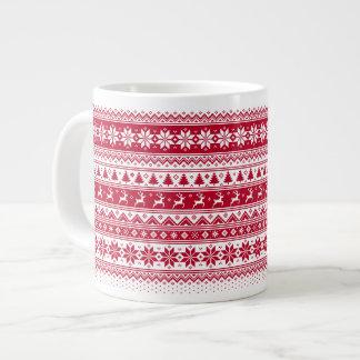 Grande Tasse Nordic - Noël scandinave MugV2 enorme