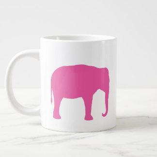 Grande Tasse Silhouettes d'éléphant rose