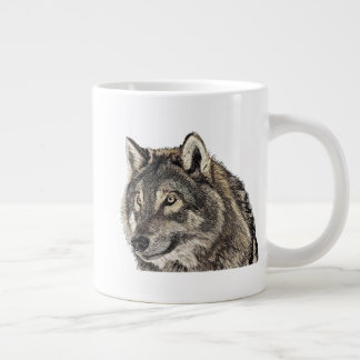 Grande Tasse Tête de loup