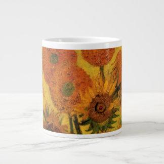 Grande Tasse Vase à Van Gogh avec des tournesols, fleurs de