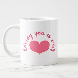 Grande Tasse Vous aimer sont Saint-Valentin romantique facile