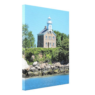 Grande toile de capitaine Island Lighthouse CT