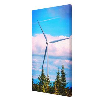 Grande turbine de vent verte de l'énergie   toiles