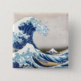 grande vague de 北斎 outre des beaux-arts de badge
