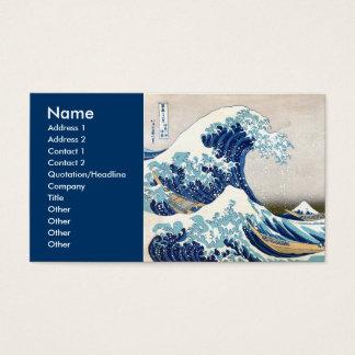 grande vague de 北斎 outre des beaux-arts de cartes de visite