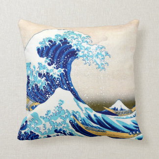 grande vague de 北斎 outre des beaux-arts de coussin