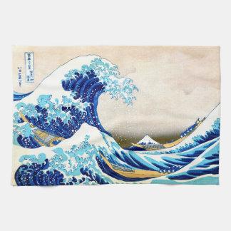 grande vague de 北斎 outre des beaux-arts de linge de cuisine