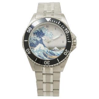 grande vague de 北斎 outre des beaux-arts de montre