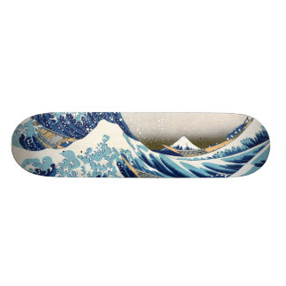 grande vague de 北斎 outre des beaux-arts de skateboard old school  21,6 cm