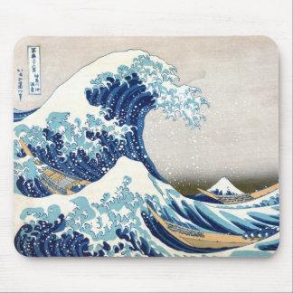 grande vague de 北斎 outre des beaux-arts de tapis de souris