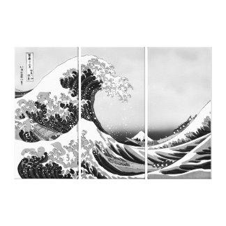 Grande vague de haute qualité outre de Kanagawa Toile