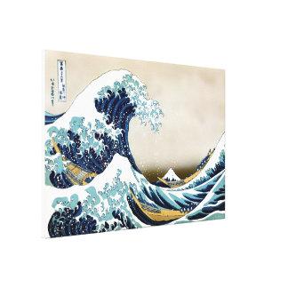 Grande vague de haute qualité outre de Kanagawa Toiles