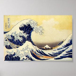 Grande vague de Hokusawa Posters