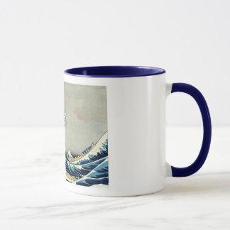 Grande vague de Katsushika Hokusai outre de Mug