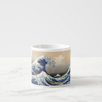 Grande vague d'océan asiatique outre de Kanagawa Tasse Expresso