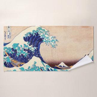 Grande vague outre d'art japonais vintage de